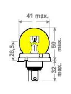 12V 45/40W P45t žlutá **