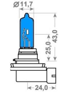 12V H9 65W X-Blue PGJ 19-5 TRIFA