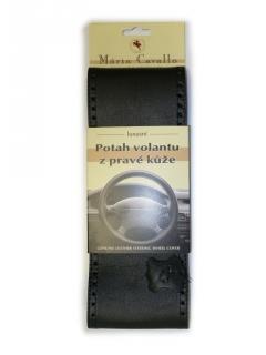 Kožený potah volantu Maria Cavallo - Černý, A