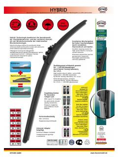 "Stěrač heyner HYBRID graphit 760 mm/30"", 039000"
