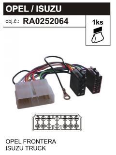 ISO adaptér OPEL - ISUZU