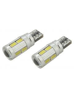 Žárovka 10 SMD LED 3chips 12V 2,1x9,5d CAN-BUS ready bílá 2ks