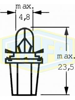 12V 1,2W BG8,5-S/40 černá TRIFA