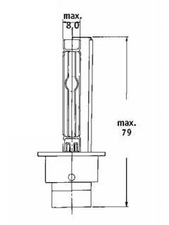 Xenonová výbojka D2S 4200K GENERAL ELECTRIC, 1ks