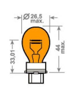 12V PY27/7W W2,5x16q Oranžová TRIFA