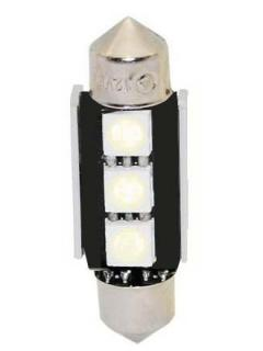 LED sufit (36mm) modrá, 12V, 3LED/3SMD s chladičem 1ks