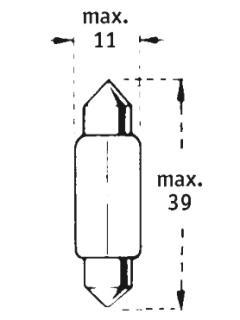 24V C10W SV8,5-8  39mm TRIFA