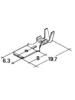 Zástrčka plochá 6,3mm 1,0-2,5mm -kolík-