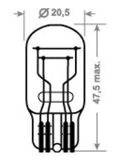 12V W21/5W 3x16q celosklo TRIFA