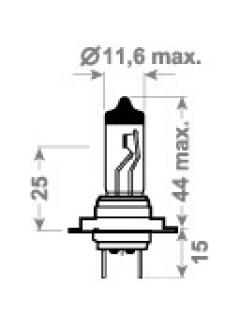 24V H7 TDL (LONG LIFE, HD) +100%  70W PX26d  TRIFA