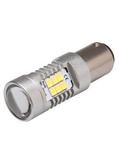 LED BA15s bílá, 12-24V, 21LED/2835SMD