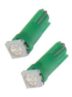 LED T5 zelená, 12V, 1LED/3SMD, 1ks
