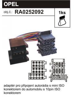 ISO adaptér OPEL