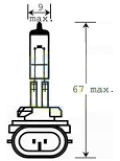 12V H37,5W (896)  PGJ13 stíněná TRIFA
