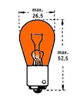 24V PY21W BAU15s Oranžová TRIFA