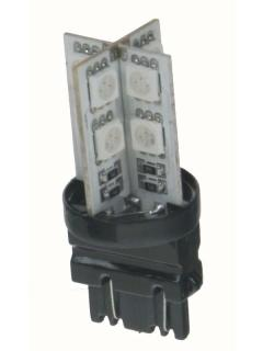 LED T20 (3157) červená 12V, 16LED/3SMD, 1ks