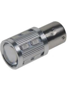 LED BAU15s červená, 12-24V, 12SMD Samsung + 3W Osram, 1ks