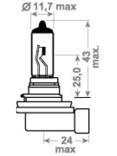 24V H11 TDL (LONG LIFE, HD) +100%  70W PGJ19-2 TRIFA