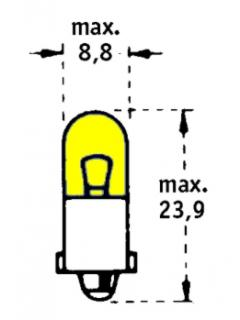 24V T2W BA9s Žlutá TRIFA