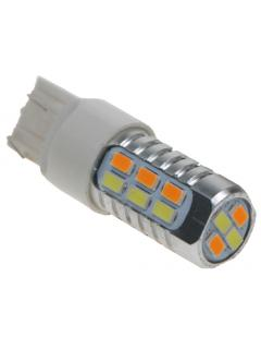LED T20 (7443) dual color, 12-24V, 22LED/5630SMD, 1ks