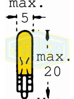 24V W1,2W 2x4,6d Žlutá TRIFA
