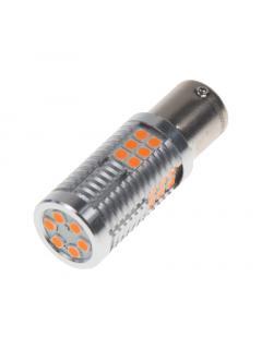 LED BAU15s oranžová, 12-24V, 30LED/3030SMD