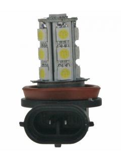 LED H11 bílá, 12V, 18LED/3SMD 1ks