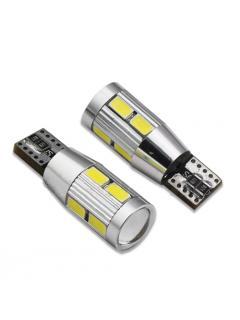 CREE LED T10 bílá, 12V, 5W + 8LED/5630SMD, (W3W, W5W), 1ks