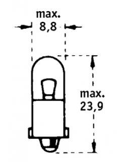 12V T2W BA9s TRIFA