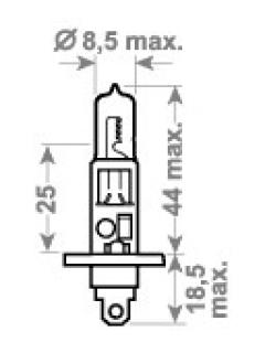 24V H1 TDL ( LONG LIFE, HD) +100%  70W P14,5s  TRIFA