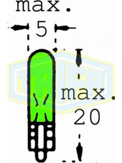 24V W1,2W 2x4,6d Zelená TRIFA