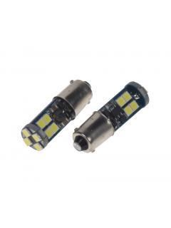 LED BA9s bílá, 12-24V, 12LED/3030SMD