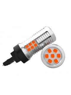 LED T20 (7440) oranžová, 12-24V, 30LED/3030SMD