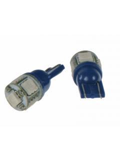 LED T10 modrá, 12V, 5LED/3SMD, 1ks
