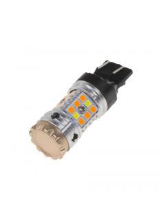 LED T20 (7443) bílá/oranžová, CAN-BUS, 12V, 32LED/3030SMD