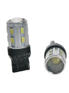 CREE LED T20 (7443) bílá, 12SMD Samsung + 3W Osram 10-30V, 1ks