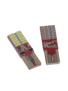 LED T10 bílá, 12V, 12LED/4014SMD, 1ks