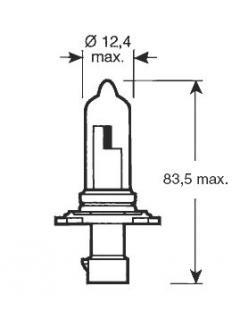 12V HB3A 60W P20d  ( 9005 )  Rovná patice TRIFA