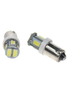 LED BA9s bílá, 12V, 6LED/3SMD, 1ks