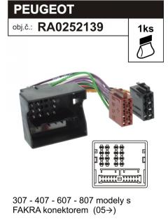 ISO adaptér CITROEN, FIAT, PEUGEOT