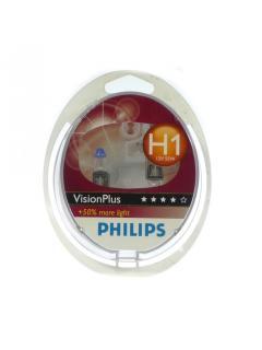 12V H1 55W P14,5s +50% Philips Vision Plus - sada 2ks -
