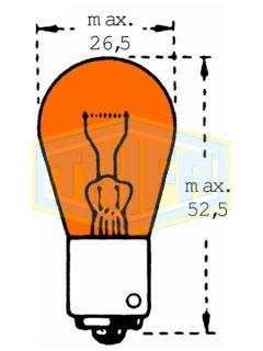 24V PY21W BAU15s Oranžová Otřesuvzdorná TRIFA