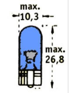 12V WB5W W2,1x9,5d Modrá TRIFA