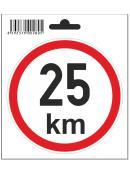 Samolepka  25 km/h, průměr 110 mm