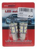 LED BAU15s bílá, 12V, 16LED/3SMD