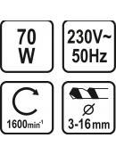 Ostřič vrtáků 3-16 mm 230V 70W (1600 ot./min)