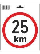 Samolepka  25 km/h, průměr 150 mm