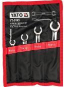 YATO Sada klíčů prstencových 4ks 8-17 mm polootevřené, YT-0143