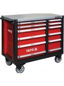 YATO Skříňka dílenská pojízdná 6+6 zásuvek červená, YT-09003