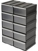 VOREL Skříňka se zásobníky, 10 zásobníků,  225x155x100mm, TO-78785